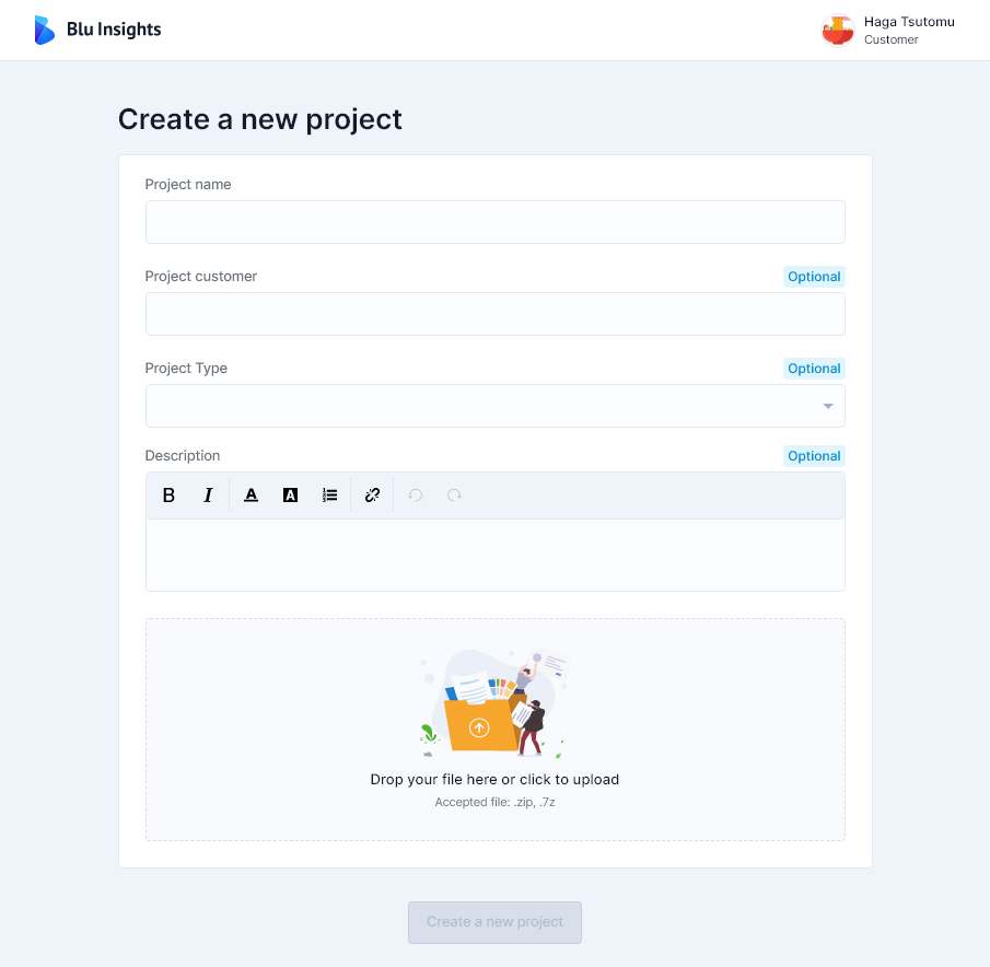 Create a new Codebase Project